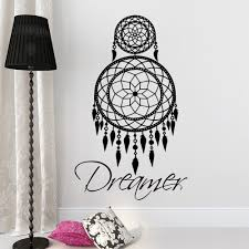 online get cheap retro bedroom decor aliexpress com alibaba group indian dreamcatchers wall stickers for living room home decor retro dreamer catcher wall decal bedroom decor