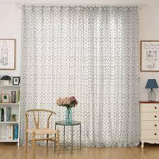 Sheer Patio Door Curtains Cream Chevron Sheer Curtains For Patio Doors