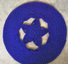 Pentacle Rug Crocheted Celtic Pentacle Now With Pattern Crochet