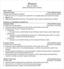 sample resume template 24 free samples examples format