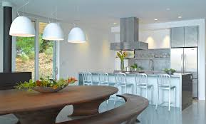stainless steel kitchen island kitchen contemporary with gray