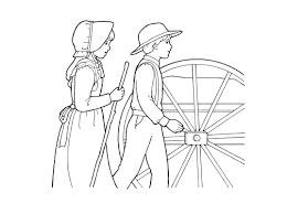 pioneers pulling a handcart