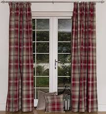 Curtains 46 Inches Mcalister Textiles Angus Small Designer Thick Soft Tartan Check