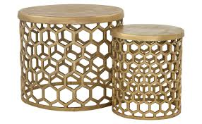 Outdoor Metal Side Table Honeycomb Brass Tables Transitional Side U0026 End Tables Dering Hall