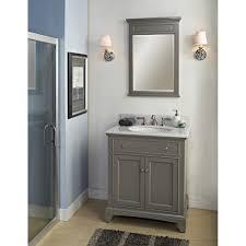 Ferguson Vanities Bathroom Classic Grey Fairmont Vanities With White Sink For