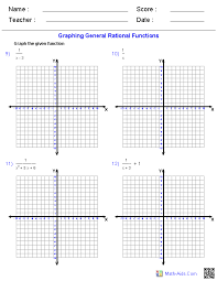 graphing general rational functions worksheets education