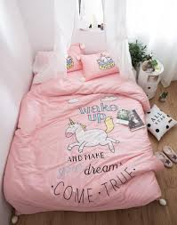 Unicorn Bed Set Rainbowsleep Unicorn And King Sheets Set 4 Pieces Bed In A