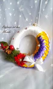 23 best kanzashi wreath images on pinterest ribbon flower