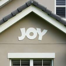 Christmas Yard Decorations Joy by Christmas Outdoor Joy Sign Decoration