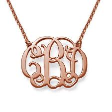 gold plated monogram necklace letters 18k gold plated monogram necklace