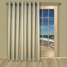 Patio Window by Lined Grommet Patio Panel In 3 Colors Of Grasscloth