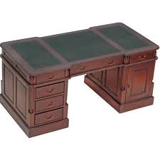 bureau acajou bureau anglais en acajou bristol plateau vert meuble de style