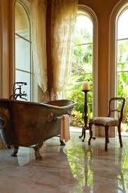 Free Standing Drapes Clawfoot Tub For Sale Beach Style Bathroom Also Antique Wood Chair