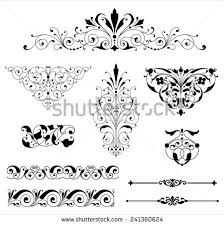ornament set set black vector ornaments stock vector 241360624
