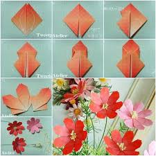 Handmade Flowers Paper - how to make beautiful paper origami flower crafts pinterest