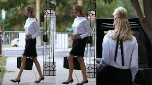 ivanka blouse ivanka steps out in a demure white blouse featuring a girly
