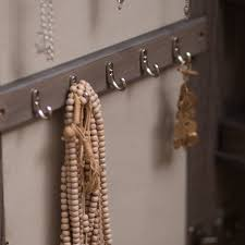 Where To Buy A Jewelry Armoire Wall Mounted Locking Mirrored Jewelry Armoire Driftwood Hayneedle