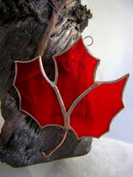 stained glass maple leaf ornament explorecanada canada oh