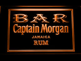 captain morgan neon bar light beverages led signs captain morgan