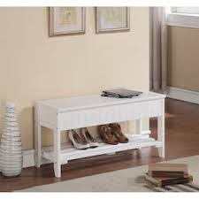 White Bench With Storage Storage Benches White For Less Overstock