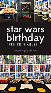 Star Wars Birthday Decorations Star Wars Party Printables A No Stress Way To A Galactic Party