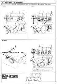 juki mo 2504 2514 2516 sewing machine threading diagram