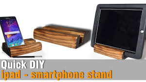 Diy Ipad Charging Station Diy Ipad Smartphone Stand From Scrap 2x4 Youtube