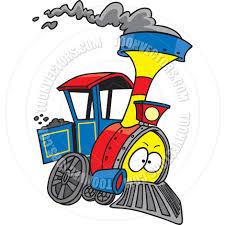cartoon train engine by ron leishman toon vectors eps 10627