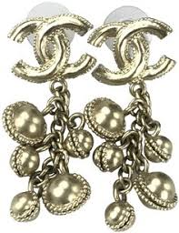 cc earrings chanel earrings cc tradesy