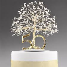 w cake topper 50th anniversary cake topper tree sculpture tree cake toppers