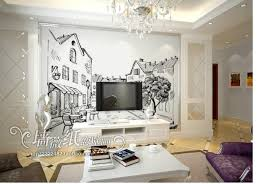 customize size high quickly hd mural 3d wallpaper the sketch city