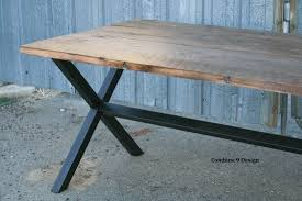 buy a custom rustic reclaimed wood dining table minimalist urban