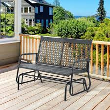 luxcraft rollback recycled plastic ft patio glider rocking picture