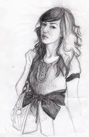 pencil sketch of fashion with bow belt eats art flickr