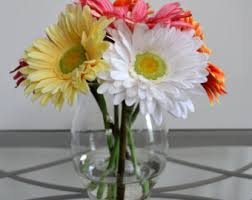 Flowers Glass Vase Faux Floral Arrangements For The Home U0026 By Chicagosilkflorist
