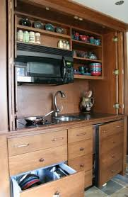 Mini Kitchen Design I Just Love These Little Hide Awasy Armoire Kitchens Armoire Mini