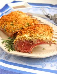herb crusted rack of lamb with honey dijon sauce the suburban