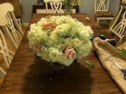 Diy Centerpieces Opinion On My First Diy Centerpiece Attempt Hydrangea Roses