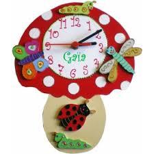 horloge chambre bébé horloge originale chignon pour enfant billes de clowns