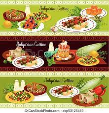 bulgarian restaurant traditional dinner banner bulgarian clip