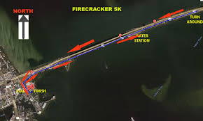 Map Melbourne Fl Firecracker 5k Running Zone Race Series