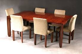 incised detail dining room set in curly african bubinga jeffrey