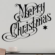 merry christmas wall sticker decal festive wall art vinyl xmas