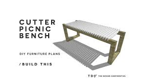 Easy Plans To Build A Picnic Table by Free Diy Furniture Plans How To Build A Cutter Picnic Bench