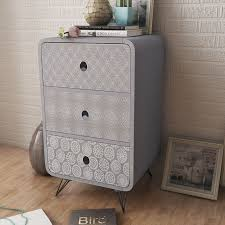 vidaxl co uk side cabinet with 3 drawers grey