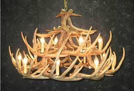 Antler Chandelier Canada Cast Whitetail Deer Antler Chandeliers