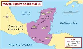 mayan empire map ancient civilization and visitors made in atlantis