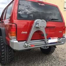 jeep xj stock bumper rear bumper with tire carrier 84 96 xj more