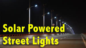Solar Power Street Light by Solar Powered Street Lights Youtube