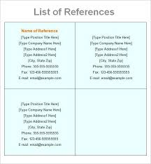 sample of reference in resume reference list resume sample for how